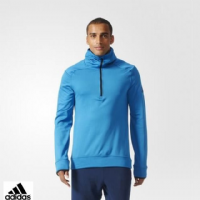Men's Adidas 'Climaheat Half-zip' Hoodie (AZ1287)(Option 1) x7: £16.95